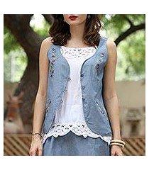 cotton vest, 'spring celebration' (india)