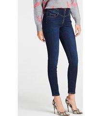 jeansy z wysokim stanem fason skinny