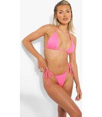 geribbeld klein bikini broekje, pink