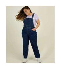 macacão plus size feminino jeans bolso
