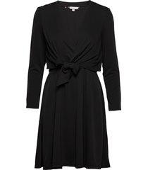 barbara dress ls knälång klänning svart tommy hilfiger