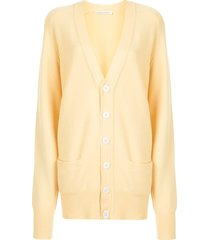 extreme cashmere no 117 cardigan - yellow