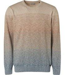 no excess pullover crewneck multi colour stri indigo blue