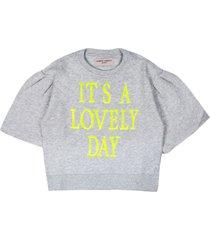 alberta ferretti grey cotton sweatshirt