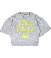 alberta ferretti grey cotton sweatshirt