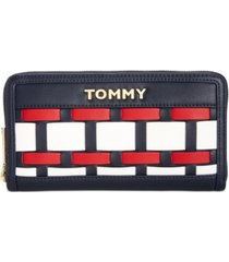 tommy hilfiger victoria large zip wallet, created for macy's