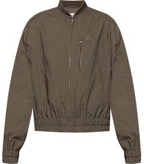 bomber jacket with logo