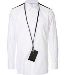 neil barrett cardholder travel shirt - white
