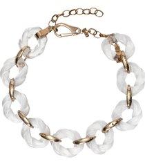 colar feminino elo torcido - dourado