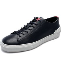 tenis azul-blanco calvin klein octavian smooth cal leather