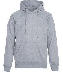 buzo-hoodie logo bordado hombre gris-blanco kuva - elefante