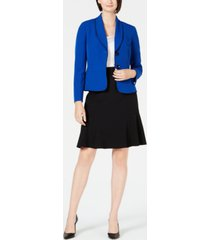 le suit shawl-lapel skirt suit
