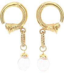 patou small pearl hoop earrings