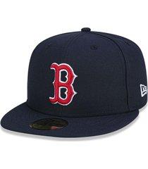 boné boston red sox 5950 game cap fechado azul - new era