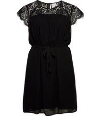 jrcarolina ss dress - k kort klänning svart junarose