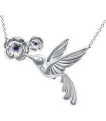 collar colibri picaflor casual plata arany joyas
