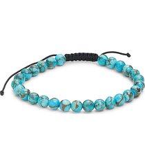 effy men's turquoise bead cord bracelet