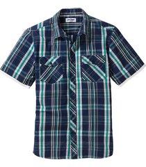 camicia a maniche corte (blu) - john baner jeanswear