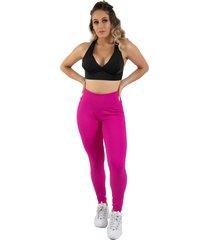 calça legging diluxo tecido bolha rosa