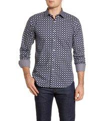 men's bugatchi shaped fit button-up shirt