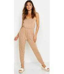 basic cami jumpsuit, camel