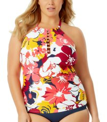 anne cole plus size beaded tankini women's swimsuit
