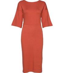 winifred dress knälång klänning orange residus