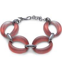 alexis bittar women's soft link gunmetal-tone & lucite bracelet