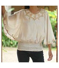 cotton blouse, 'cool day' (thailand)