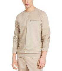 inc men's pattern-blocked sweatshirt, created for macy's