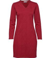 frgisun 1 dress knälång klänning röd fransa