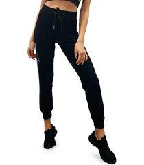 electric yoga women's no evil jogger pants - black - size m