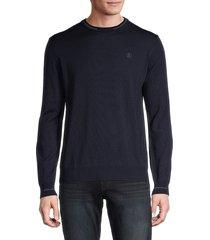 roberto cavalli men's crewneck wool pullover - navy - size xl