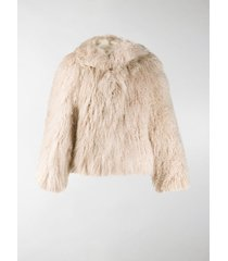 alaïa fluffy oversized jacket