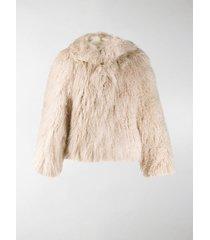 alaïa fluffy oversized jacket