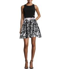women's xscape print skirt party dress