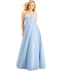 say yes to the prom juniors' embellished-top gown, created for macy's