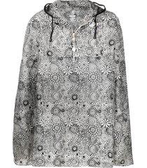 10 corso como x k-way graphic-print hooded rain cape - black