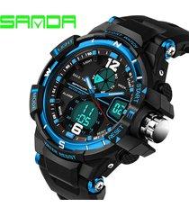 new sanda watch g waterproof sports military wat s-shoc luxury quartz led digita