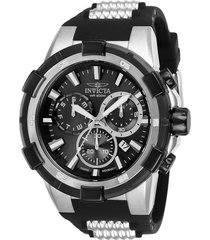 reloj invicta negro modelo 258rg para hombre, colección aviator