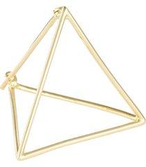 'triangle' 18k yellow gold pyramid single earring - 25mm
