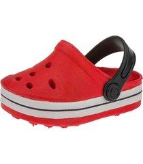 babuche infantil sandália minipasso vermelho
