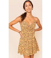 women's abby leopard mini dress in leopard by francesca's - size: l