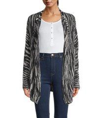 nic+zoe women's printed cotton-blend cardigan - size s