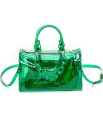 like dreams clear chain barrel handbag