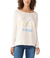 lucky brand ac/dc tour long-sleeved graphic t-shirt