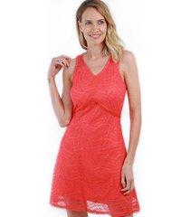 vestido de encaje lola naranjo night concept