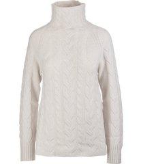 s max mara ice white hazel turtleneck pullover