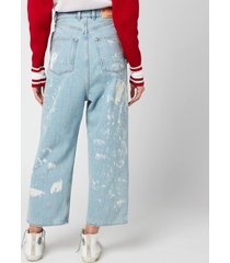 golden goose women's breezy bleached/paint pants - blue - w29