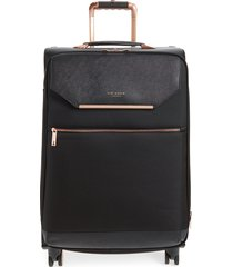 ted baker london medium albany 27-inch spinner suitcase - black